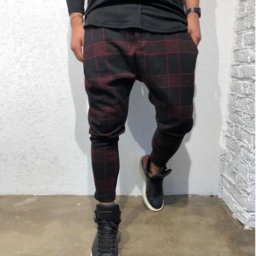 Half Elastic Wrinkle Free Flat Front Men's Slacks Relaxed Fit Twill Casual Pants