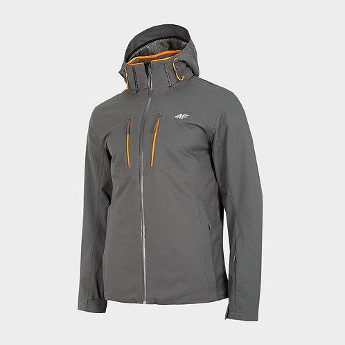 Men's Softshell Jacket Ski Jacket with Removable Hood, Fleece Lined