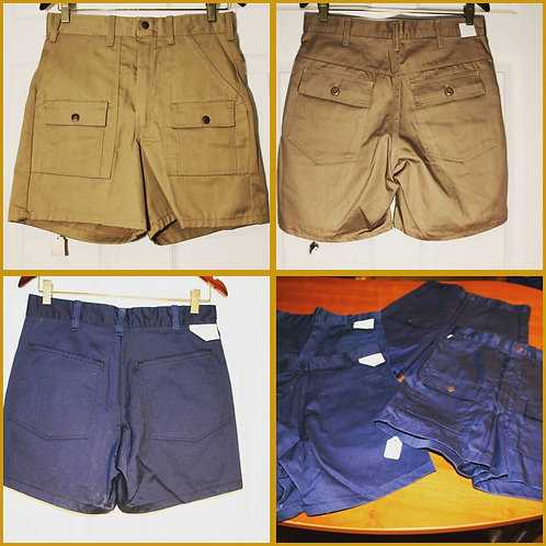 Cargo Shorts Elastic Waist Drawstring Cotton Casual Outdoor Lightweight Shorts