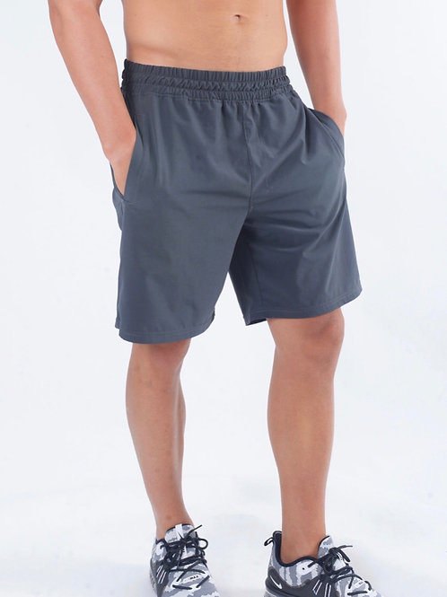 Men's Workout Running Shorts Quick Dry Athletic Performance Shorts Grey Liner