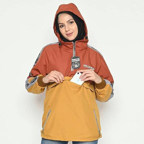 Women Raincoat with Hood Waterproof Rain Jacket Contrast Outdoor Lightweight Rai