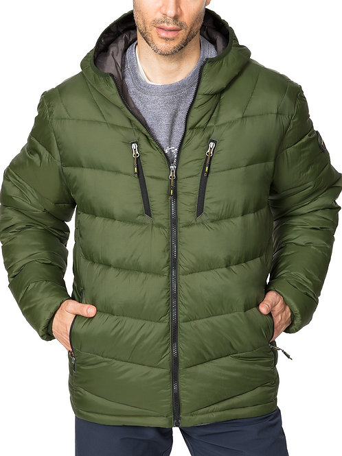 Men's Packable Lightweight Puffer Jacket Hooded Windproof Winter Coat