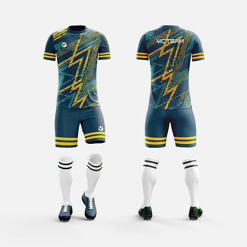 Customized Men's Compression Cool Dry Sports Short Sleeve Shirt Football T-Shirt