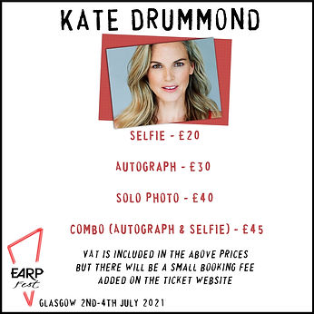 Kate Selfie £20, Auto £30, Solo Photo £40, Combo £45