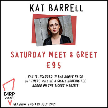 Kat Saturday Meet and Greet £95