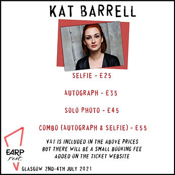 Kat Selfie £25, Auto £35, Solo Photo £45, Combo £55