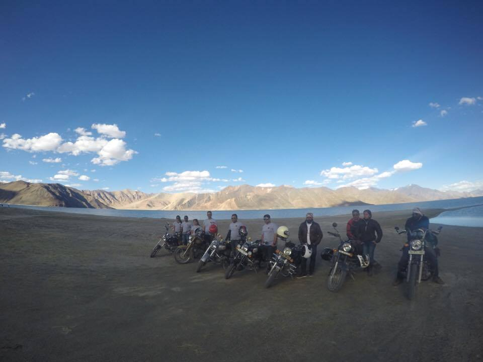 The gang at the Pangong