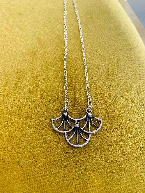 Gina Mount 3 fan pendant necklace