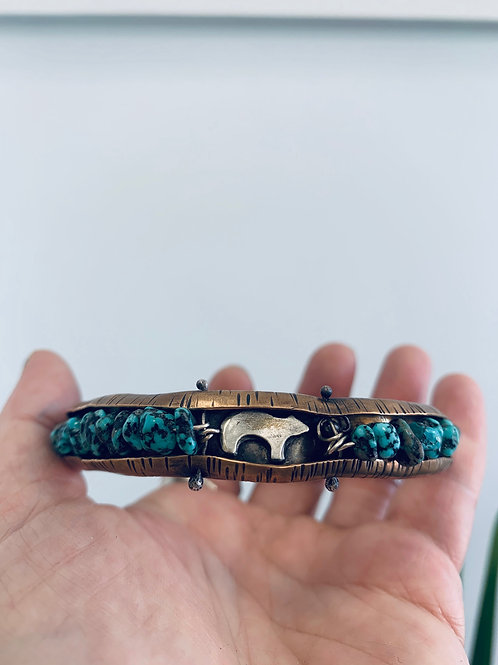Amy Sabatier Designs Turquoise/Bronze Bangle
