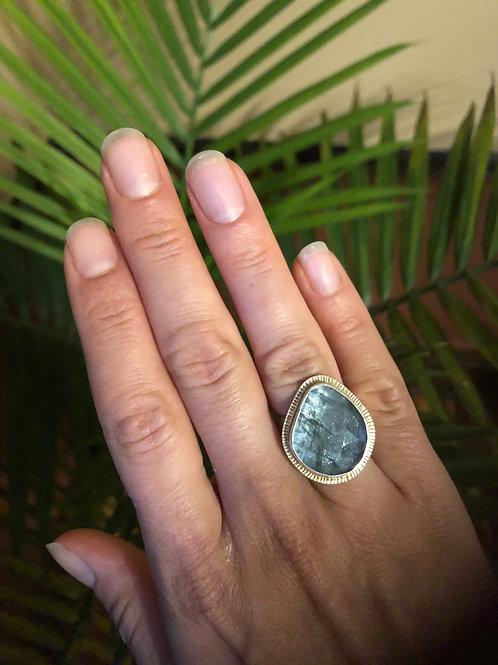 Vikse Moss Aquamarine Ring