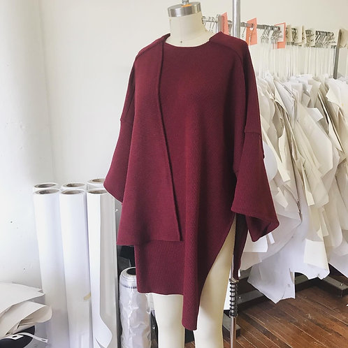 Tessa Louise Miyaki Sweater in Bordeaux