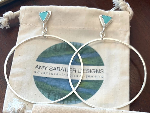 Amy Sabatier Designs Turquoise Studs with Hoops