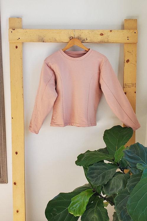 Joeleen Torvick Cotton Fleece Sweater-Pink