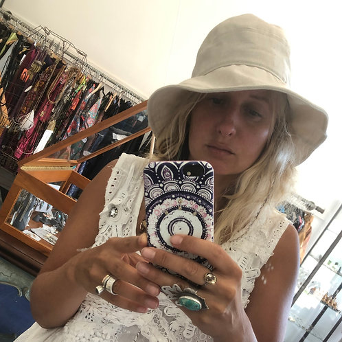 Karen Morris Sun + Rain Hat in Linen