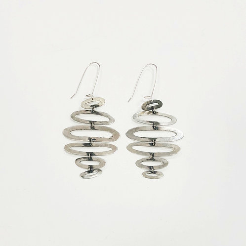 Gina Mount Stacking Oval Drop Earrings