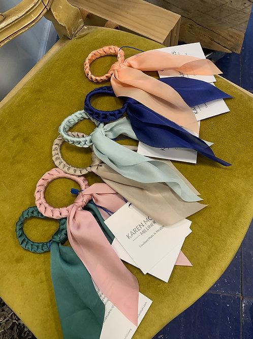 Karen Morris Millinery Braided Silk Hair Tie