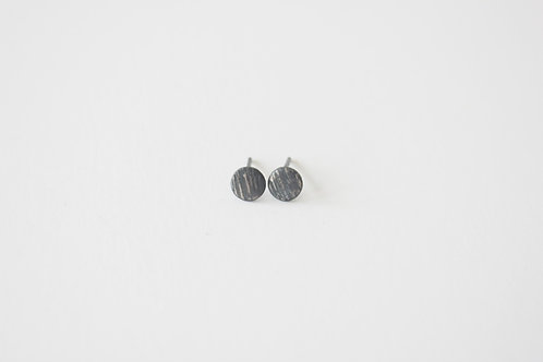 Oxidized Circle Studs by Vikse Designs