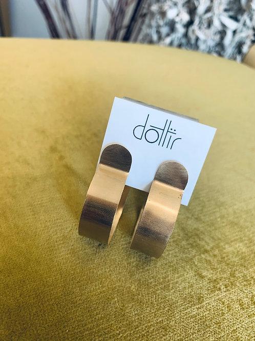 Dottir Brass Hoops