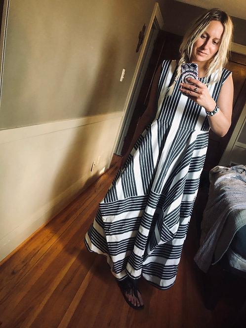 1004 Designs Maxi Cube Dress Stripe