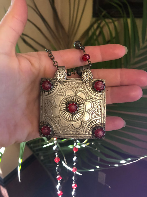 PPTaller Vintage Kashmiri Prayer Box Necklace