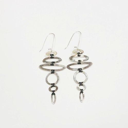 Gina Mount Stacking Circle Drop Earrings