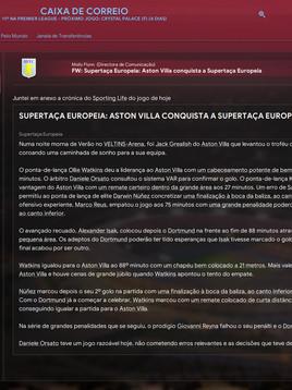 A desilusão da Premier League com o Aston Villa