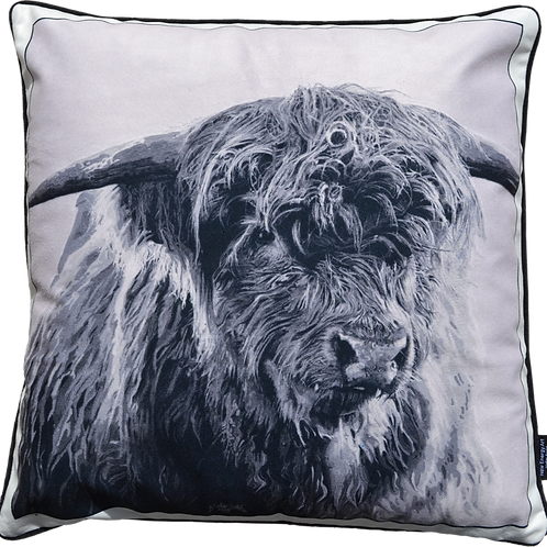 DS Velvet Cushion Cover | Highland Cattle