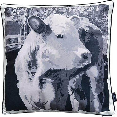 Velvet Cushion Cover | Cow Calf