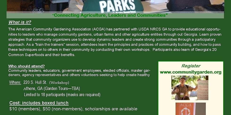 Growing Communities Workshop - Athens, GA