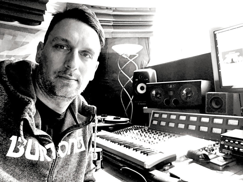 Music producer and studio engineer Ben Hense in his recording studio in Melbourne.