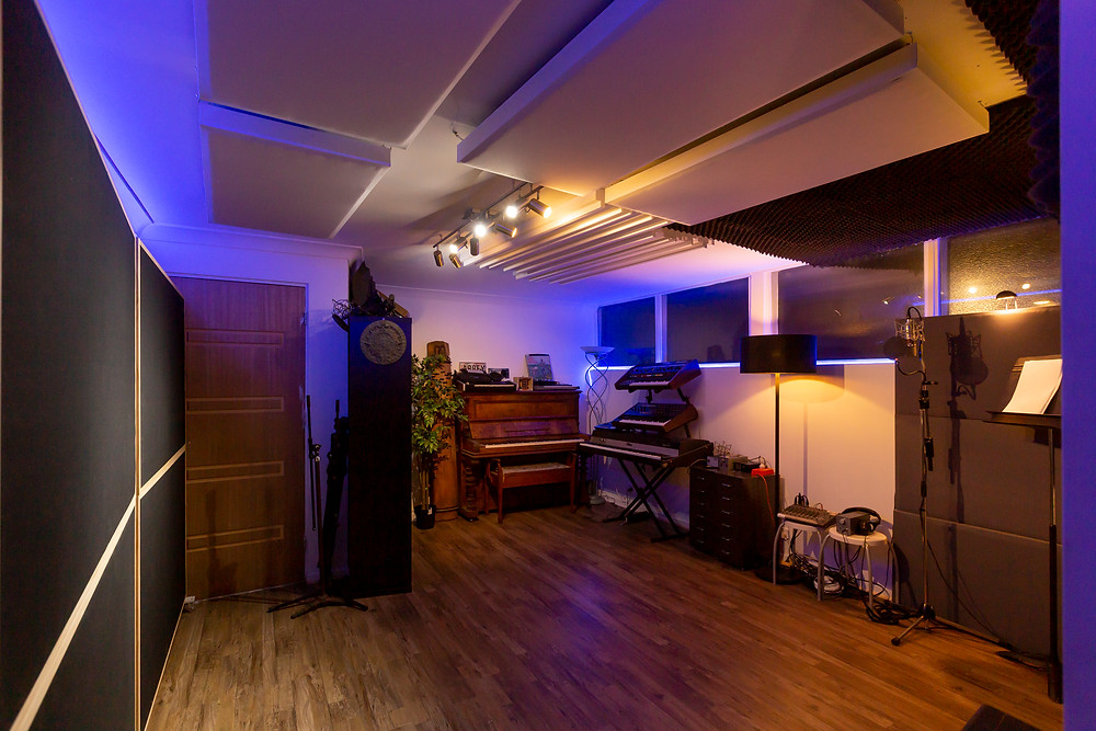 The newly renovated live room at Beat Tank Productions Melbourne
