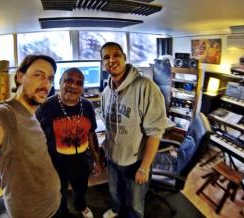 Archie Roach records at Beat Tank Recording Studio Melbourne