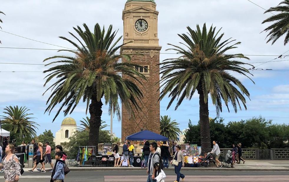 Catani tower clock St Kilda