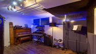 Live room in the recoridng studio