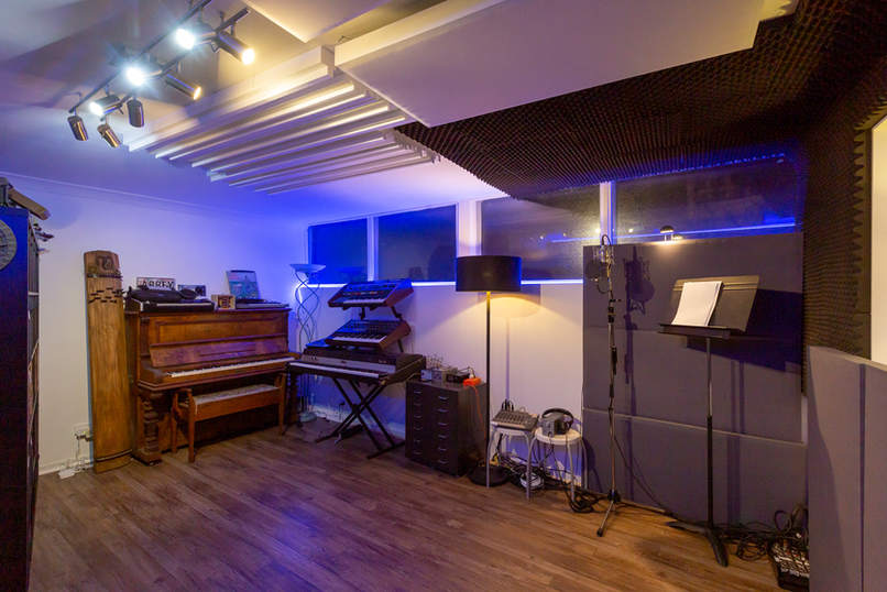 Our live room in ouur Melbourne recording studios.