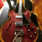 A 63 Gibson is always welcome in the stu