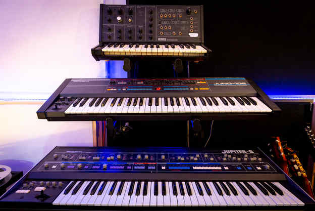 Analog Synths at the studio