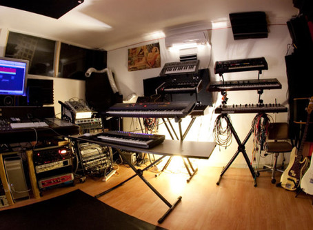 Recording studio in Montmorency, Melbourne.