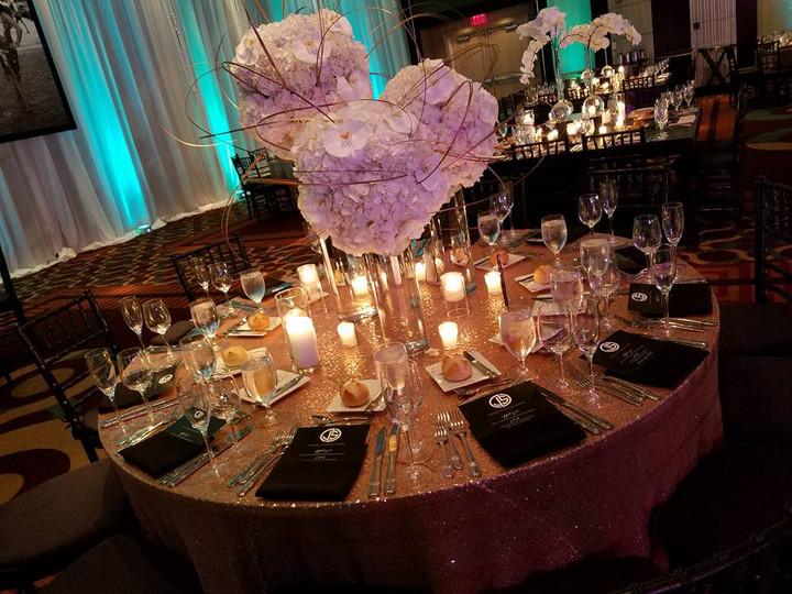 Sequin tabletop