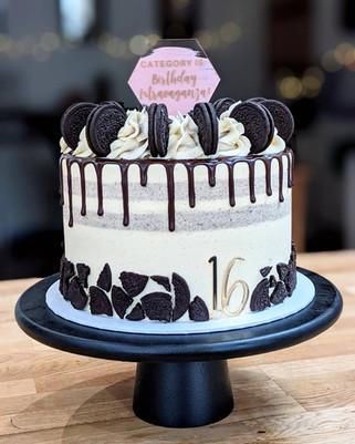 Oreo drip cake 16th birthday cake