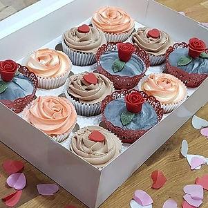 Chocolate and vanilla Valentine's cupcak