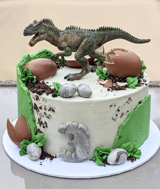 Dinosaur cake 3rd birthday cake