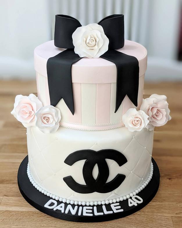 Chanel cake 40th birthday cake