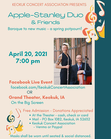 Facebook LIVE - Apple-Stanley Duo and Friends
