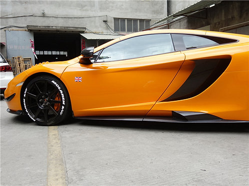 MP4-12c Carbon Fibre 675LT Style 3-piece Side Skirts Air Scooped And Vented.