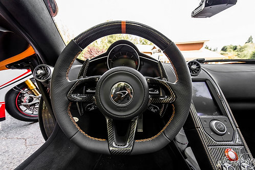 MP4-12c Carbon Fibre Steering Wheel Central Surround Cover.