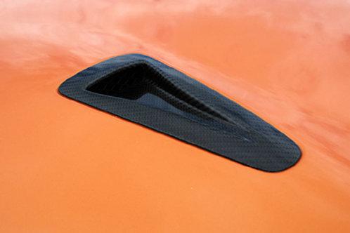 R35 GTR Carbon Fibre OEM Style Front Bonnet Hood Scoop Inserts.
