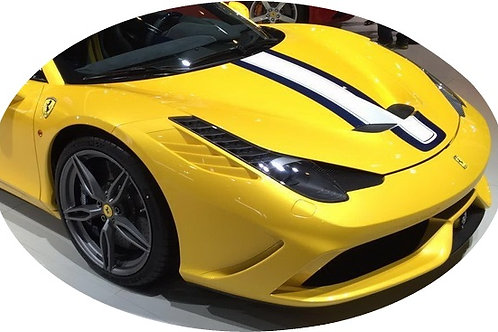 458 Fully Carbon Fibre SP Full One-Piece Front Bumper Wide Vented.