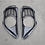 Thumbnail: R35 GTR Carbon Fibre MCR Exhaust Surround Inserts In Rear Bumper..
