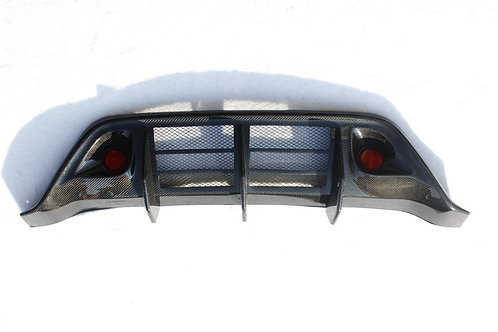 R35 GTR Carbon Fibre WALD Rear Bumper Diffuser OEM Replacement with Lights.